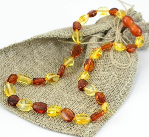 Children's Amber Necklace Made of Precious Baltic Amber