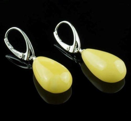 Amber Earrings Made of Precious Healing Baltic Amber