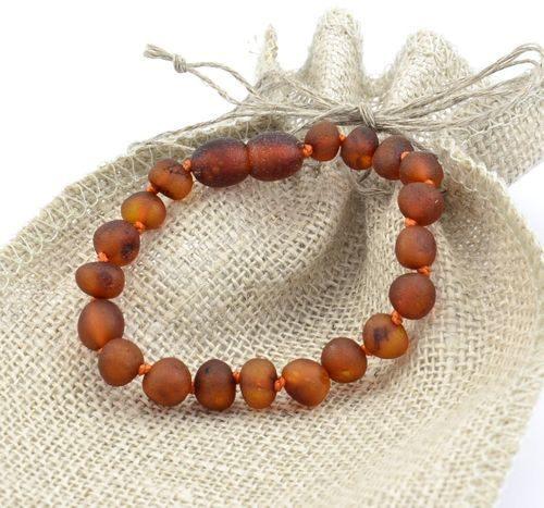 Children's Amber Bracelet Made of Raw Baltic Amber