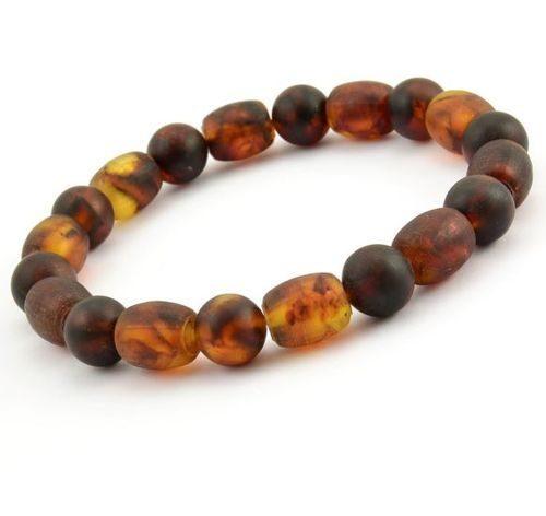 Beaded Bracelet for Men Made of Healing Precious Baltic Amber