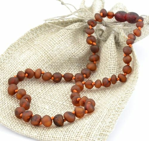 Children's Amber Necklace Made of Raw Baltic Amber