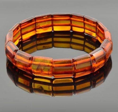 Amber Bracelet Handmade of Precious Healing Baltic Amber