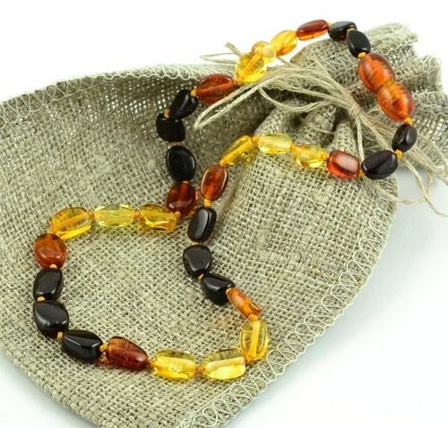 Children's Amber Necklace Made of Precious Healing Baltic Amber