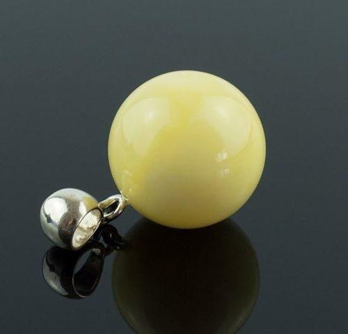 Butterscotch Amber Pendant Made of Precious Healing Baltic Amber