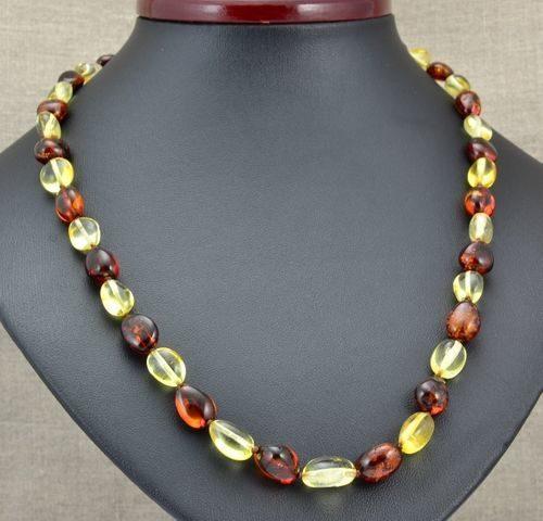 Amber Necklace Handmade of Precious Healing Baltic Amber