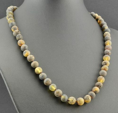Amber Necklace Made of Healing Raw Baltic Amber