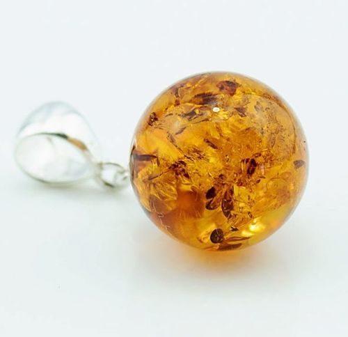 Amber Pendant Made of Made of Light Cognac Baltic Amber