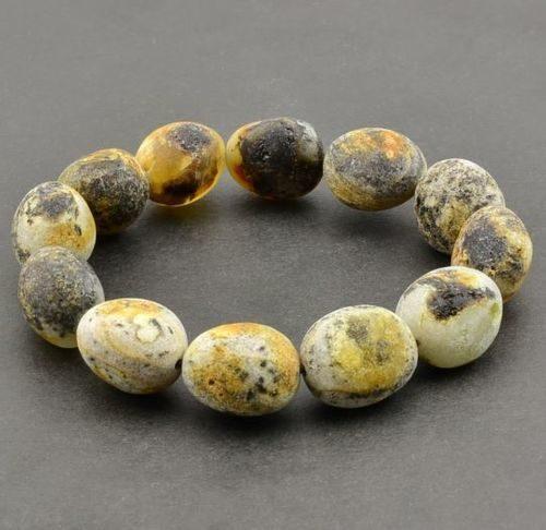 Raw Amber Bracelet Made of Amazing Healing Baltic Amber