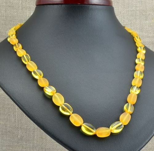 Amber Necklace Made of Raw and Polished Healing Baltic Amber