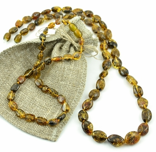Baltic amber teething necklace with perfect companion for Mom - SOLD OUT