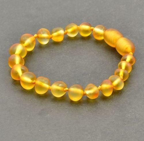 Amber Bracelet Made of Matte Baltic Amber