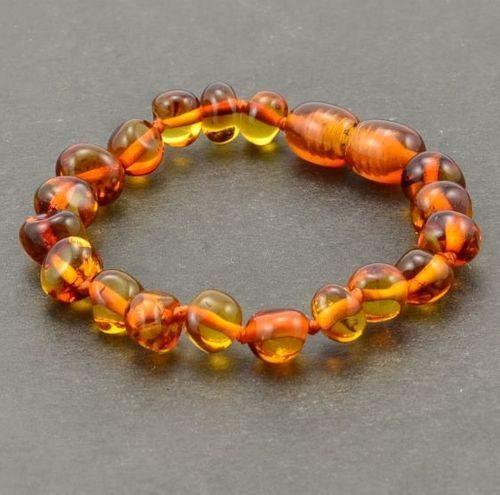 Children's Amber Bracelet Made of Cognac Baltic Amber