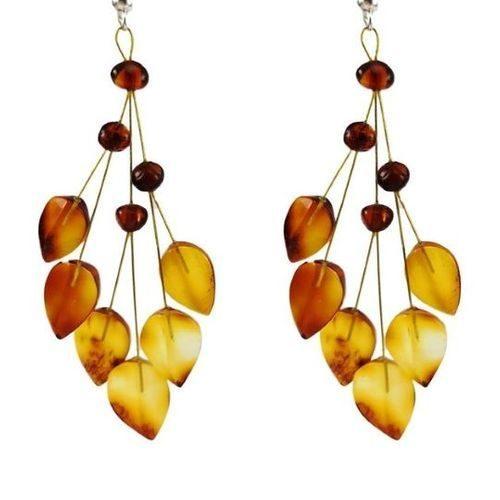 Amber Earrings Made of Amazing Healing Baltic Amber
