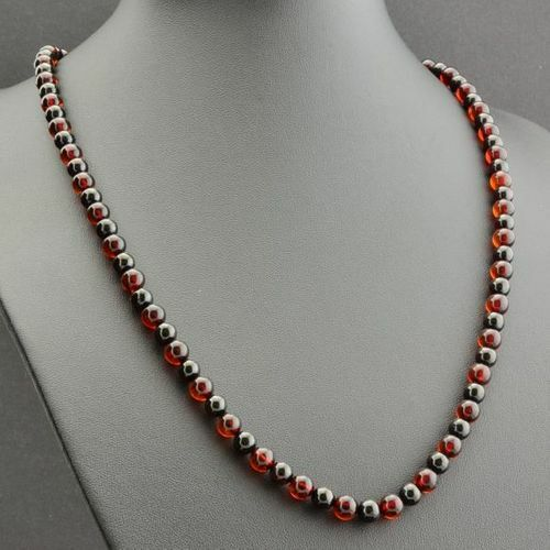 Men's Beaded Necklace Made of Precious Baltic Amber