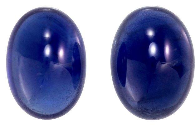 Details about  /3.5-6mm Blue Sapphire Flat Back Plain Round Cabochons Round Sapphire Cabochons