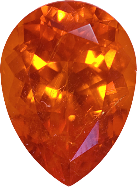 Spessartite Sunkist Orange Namibian Origin In German Cut, Vivid Deep Orange  Color In 12.6 X 9.2 Mm, ...