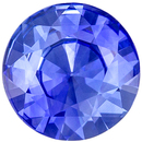 Lovely Blue Sapphire Loose Gem 0.57 carats, Round Cut, Vivid Cornflower Blue, 5.4 mm