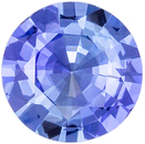 Bright & Lively Blue Sapphire Gemstone Round Cut, Medium Cornflower Blue, 5.4 mm, 0.59 carats