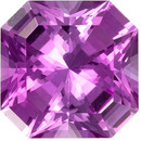 0.62 carats Pink Sapphire Loose Gemstone in Radiant Cut, Rich Pink, 5 mm