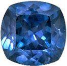 Lovely Rare Sapphire Natural Gem, 5 mm, Teal Blue Green, Cushion Cut, 0.78 carats