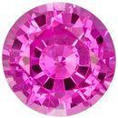 Excellent Round Cut Pink Sapphire Loose Gem, 5.4 mm, Medium Pure Pink Color, 0.79 carats