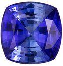 Exciting 0.83 carat Blue Sapphire Gemstone in Cushion Cut 5.5 mm