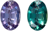 Good Looking Gubelin Certified Alexandrite Loose Gem, 7.1 x 4.85 x 3.26 mm, Purple to Teal Color change, Oval Cut, 0.95 carats