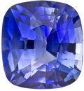 Serious Gem in 0.96 carats Sapphire Genuine Gemstone in Cushion Cut, Intense Blue, 5.9 x 5.4 mm
