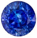 Stunning Blue Sapphire Loose Gem, 0.97 carats, Round Cut, 5.6 mm , High Quality - Low Cost Gem