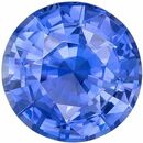 Low Price on No Heat GIA Certified Genuine Loose Blue Sapphire Gemstone in Round Cut, 6.12 x 6.2 x 3.57 mm, Rich Cornflower Blue, 1.03 carats