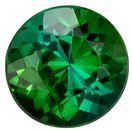 Beautiful Green Tourmaline 1.04 carats, Round shape gemstone, 6.3  mm