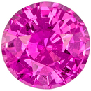 Must See 1.04 carats Pink Sapphire Round Genuine Gemstone, 5.8 mm