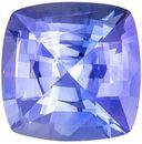 Classic Cornflower Blue Sapphire Gemstone 1.05 carats, Cushion Cut, Cornflower Blue, 5.9 x 5.9 mm