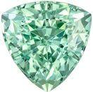 Classic Blue Green Tourmaline 1.05 carats, Trillion shape gemstone, 6.3  mm