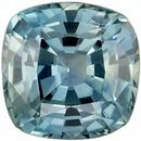 Bright & Lively Genuine Loose Blue Green Sapphire Gemstone in Cushion Cut, 5.9 mm, Teal Blue Green, 1.19 carats