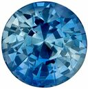 Deal on Genuine Loose Blue Green Sapphire Gemstone in Round Cut, 5.9 mm, Vivid Teal Blue, 1.2 carats