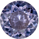Deal on Genuine Loose Spinel Gemstone in Round Cut, 7 mm, Steely Lavender Purple, 1.21 carats