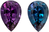 Top Gem Gubelin Certified Genuine Loose Alexandrite Gemstone in Pear Cut, 8.16 x 5.46 x 4.23 mm, Bluish Green to Purple, 1.29 carats