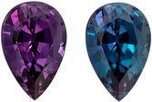 Top Gem Gubelin Certified Genuine Loose Alexandrite Gemstone in Pear Cut, 8.16 x 5.46 x 4.23 mm, Bluish Green to Purple, 1.29 carats