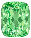 Great Deal on Mint Green Garnet Genuine Stone, 1.32 carats, Cushion Cut, 6.5 x 5.5  mm , Amazing Low Price