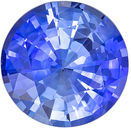 Excellent Sapphire Loose Gem, 7 mm, Medium Rich Blue, Round Cut, 1.33 carats