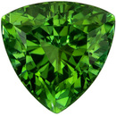 Genuine Green Tourmaline 1.38 carats, Trillion shape gemstone, 7  mm