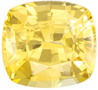 Perfect Ring Stone in 1.38 carat No Heat GIA Yellow Sapphire Cushion Cut