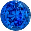 Very Desirable Genuine Loose Blue Sapphire Gemstone in Round Cut, 6.2 mm, Intense Rich Blue, 1.39 carats