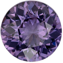 Highly Desirable Genuine Loose Spinel Gemstone in Round Cut, 7 mm, Medium Steely Purple, 1.43 carats