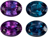 Very Rare Gubelin Certified Alexandrite Matched Pair, 6.3 x 4.8 x 3.1 mm, Excellent Color Change, Oval Cut, 1.47 carats