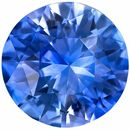 Very Desirable Blue Sapphire Genuine Loose Gemstone in Round Cut, 1.57 carats, Medium Rich Blue, 7.1 mm