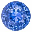 Faceted Blue Sapphire Gemstone, 1.58 carats, Round Cut, 6.5 mm, A Highly Selected Gem