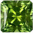 1.58 carats Green Tourmaline Loose Gemstone in Radiant Cut, Mint Green, 6.7 mm