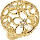 0.17 Carat Floral-Inspired Diamond Ring